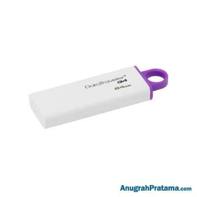 Kingston Datatraveler Generation 4 Dtig4 64gb Purple T2709 kingston datatraveler generation 4 64 gb usb 3 0 flash