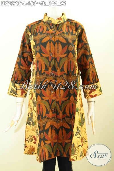 Dress Batik Wanita Motif 2 baju batik wanita modern 2018 dress krah shanghai