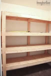 shelves for garage storage diy storage shelves honeybear