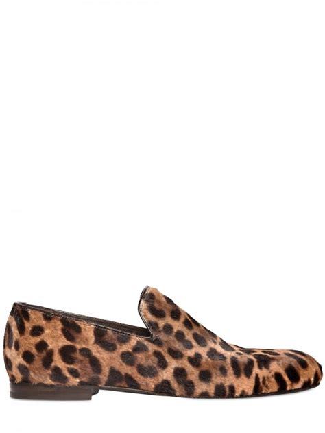 leopard skin loafers jimmy choo sloane leopard print ponyskin loafers in animal