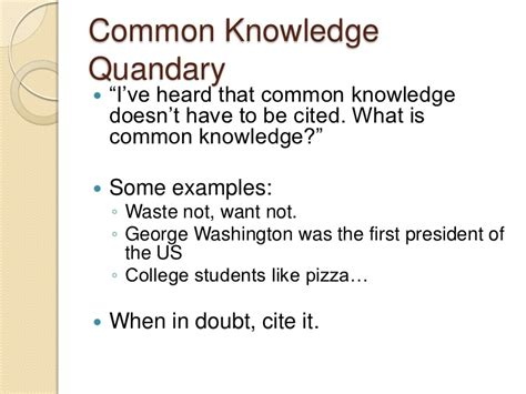apa format common knowledge plagiarism and citation spring 2012 apa