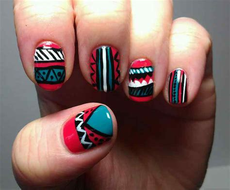 easy tribal nail art designs and ideas007 life n fashion