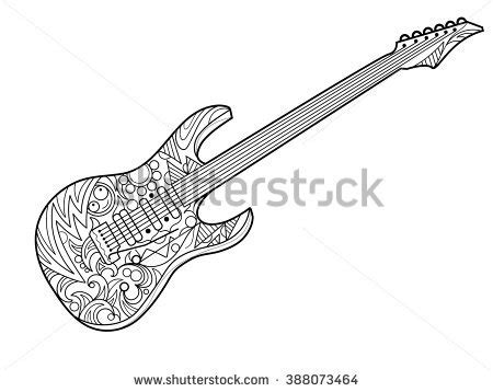 guitar coloring pages for adults chainsaw vector icon stock vector 563956144 shutterstock