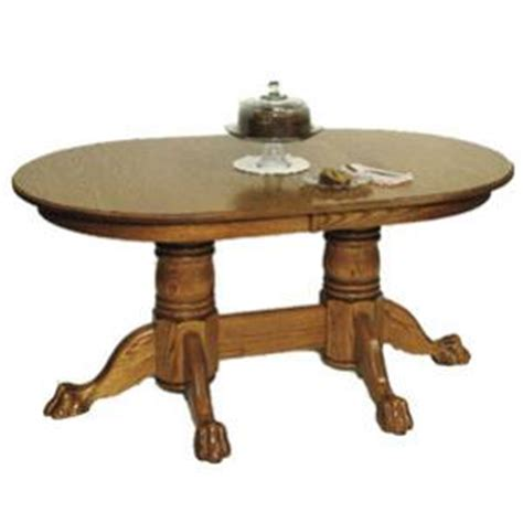 Claw Foot Pedestal Table Amish Heritage Colonial Oval Claw Foot Pedestal