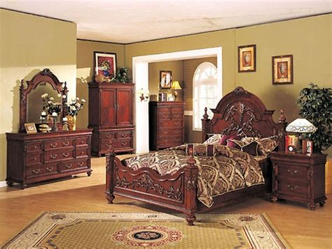 cherry oak bedroom set 6 piece rococo bedroom set in cherry oak finish by acme 9250