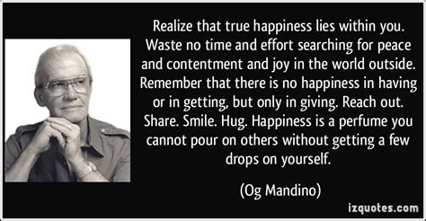 Jim Rogers Mba Waste Of Time by Og Mandino Quotes Happiness Quotesgram