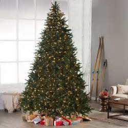 classic pine full pre lit christmas tree 10 ft clear