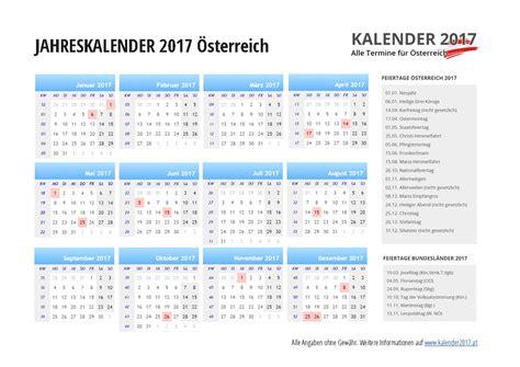 Ausdrucken Kalender 2017 Kalender 2017 214 Sterreich