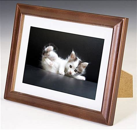 Mat Frames by 5 X 7 Wooden Picture Frames W Walnut Finish White Mat