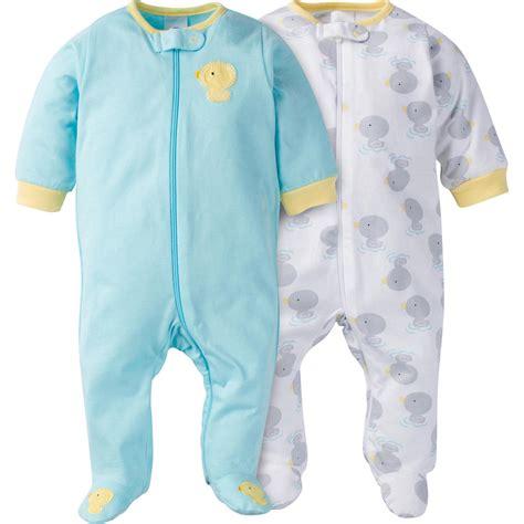 baby clothes s s world gerber newborn s 2 pack sleeper pajamas ducks