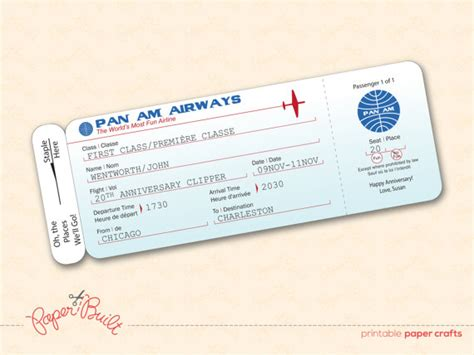 unavailable listing on etsy - Airline Ticket Gift Card