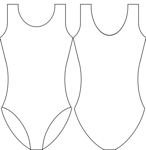 Leotard Design Template by Leotard Template Images