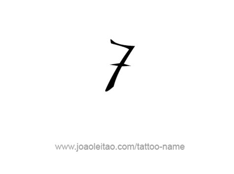number 7 tattoo designs seven 7 number designs tattoos with names