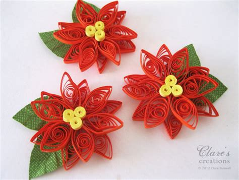 tutorial quilling christmas quilled poinsettia tutorial clare s creations