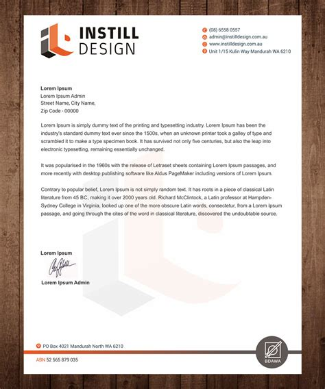modern professional architecture letterhead design for