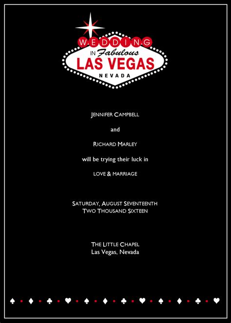free vegas templates las vegas wedding announcement