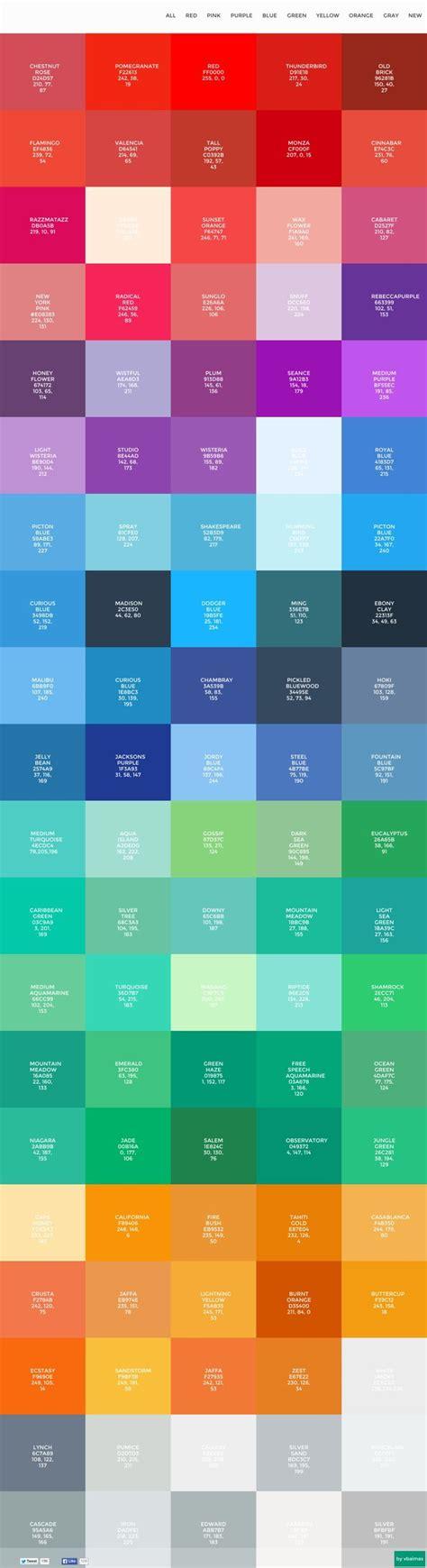 flat color picker best 25 flat color palette ideas on flat