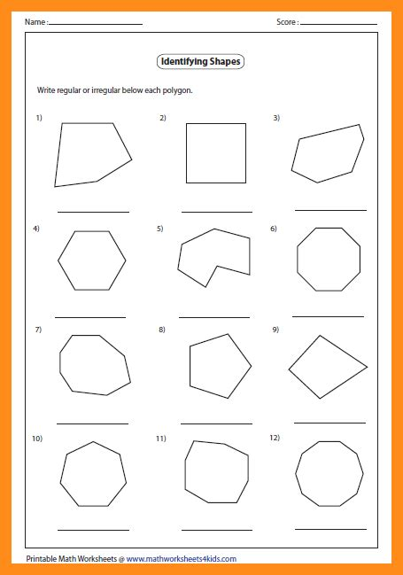 Classifying Polygons Worksheet by Regular Polygons Worksheet Www Pixshark Images