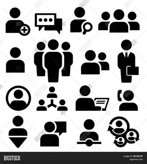 imagenes vectoriales personas vector y foto set de iconos de personas vector bigstock
