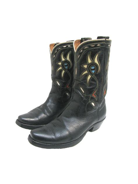 acme boots vintage acme cowboy boots mens 1950s leather by atomicfireball
