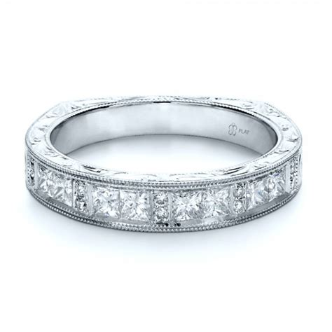 Wedding Bands With Princess Cut Diamonds by Custom Princess Cut S Wedding Band 1134