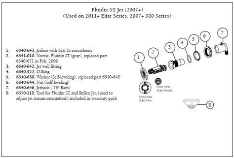 sundance spa parts diagram sundance spa fluidix intelli jet wall fitting the spa