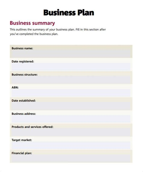 business plan template word doc business plan template pdf peerpex