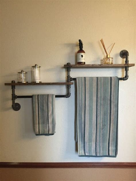 bathroom shelves with towel rack best 25 bathroom towel bars ideas on bathroom