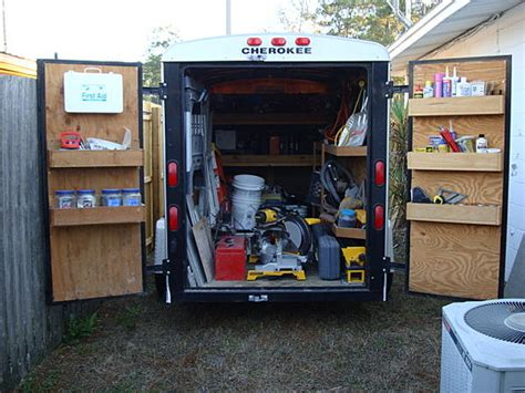 work trailer layout lets see your van truck trailer layouts page 6 ceramic