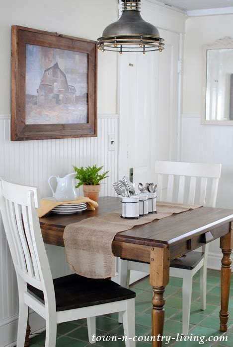 farmhouse table   breakfast nook town country living