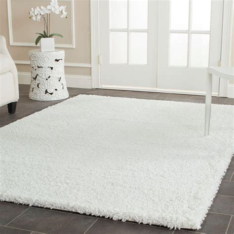 White Fuzzy Area Rug Safavieh California Shag White 8 Ft X 10 Ft Area Rug Sg151 1010 8 The Home Depot