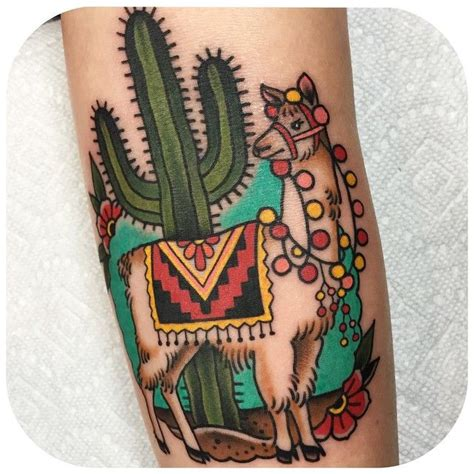llama tattoo llama in the ditch for thanks becca genne