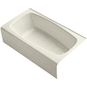 kohler seaforth bathtub kohler seaforth 4 5 ft right drain rectangular alcove