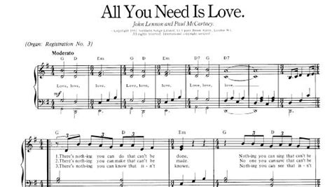 Pdf All You Need Is Bach by All You Need Is Sheet Beatles Piano Sheet