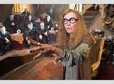 Maybe I'm crazy, but I imagined Professor Trelawney from ... The Hunger Games Wiress
