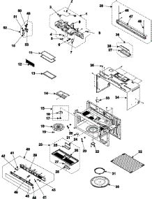 samsung microwave parts diagram parts for samsung smh7177ste microwave