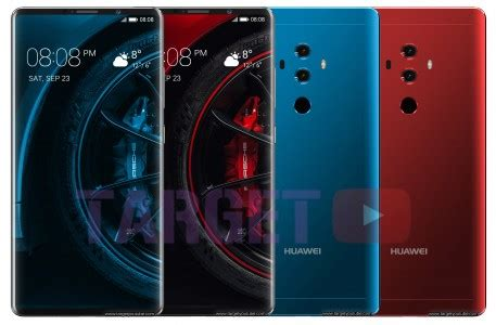 huawei mate 10 pro renders show the bezel less front, the
