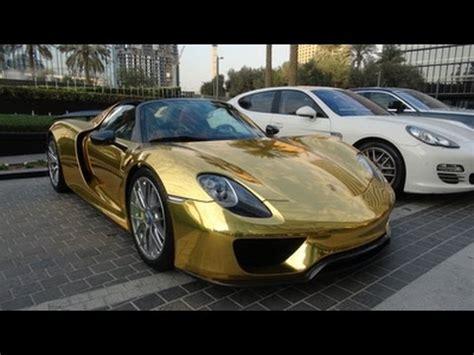 gold porsche 918 gold porsche 918 spyder weissach package in dubai