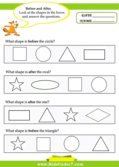 Worksheets For Toddlers Free by Before And After Worksheets Free 7 1