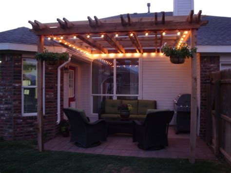 Pergola With Lights House Ideas Pinterest Patio The Lights On Pergola