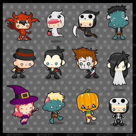 imagenes halloween kawaii kawaii costume pack halloween by pzuh graphicriver