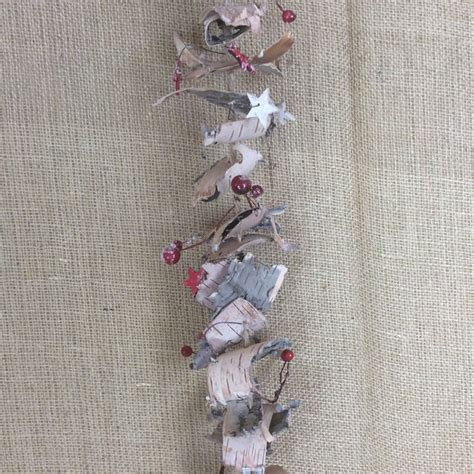 birch bark garland satchville gift co christmas