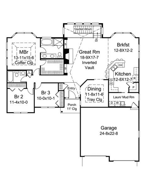 atrium ranch house plans evelyn atrium ranch home ranch house and bonus rooms