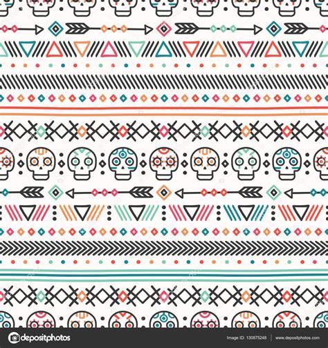 tribal pattern border tribal hand drawn line geometric mexican ethnic seamless