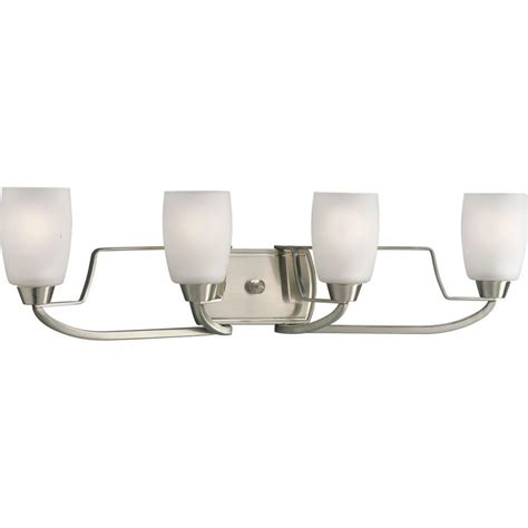 progress lighting 4 light progress lighting wisten collection 4 light brushed nickel