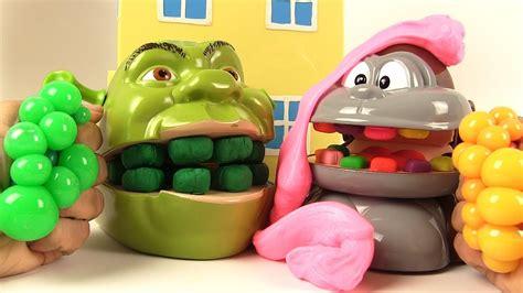Gudetama Muntah Slime Squishy Anti Stress shrek et le singe slime putty et boules mesh anti stress mesh squishy balls