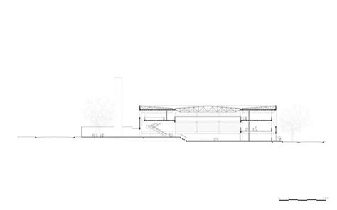 transversal section chb cinas f1 state school in brazil by mmbb arquitetos