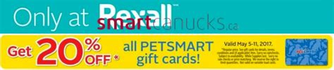 Pet Smart Gift Card Balance - rexall pharmaplus canada promotions save 20 off petsmart gift cards canadian