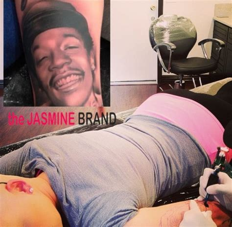 wiz khalifa tattoo of amber rose ouch gets wiz khalifa s ed on