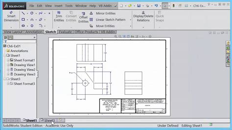 format dwg in pdf engr 6 saving solidworks drawing sheet format file youtube